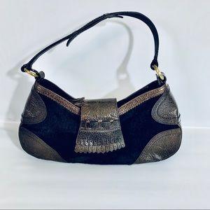 Via Spiga Veown Suede Leather hobo bag